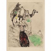 Marc Chagall REBECCA AT THE WELL Hand-colored etching