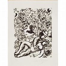 Marc Chagall LE COUPLE A L'ARBRE Lithograph