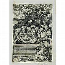 Lucas Cranach the Elder THE ENTOMBMENT Woodcut