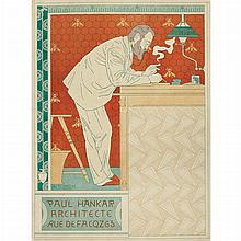 Adolphe Crespin PAUL HANKER ARCHITECTE Color lithograph