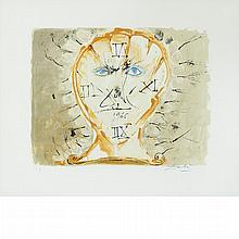Salvador Dali SELF PORTRAIT WITH SUNDIAL Color lithograph