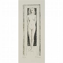 Paul Delvaux NAIS DEVETUE Lithograph