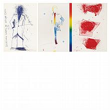 Jim Dine THE PORTRAIT OF DORIAN GRAY Complete deluxe set of 12 color lithographs and the extra suite of 10 loose prints, in leather box