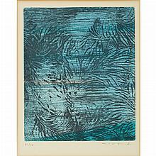 Max Ernst (1891-1976) POUR UN TEXTE DE RENE CREVEL:  FEUILLES EPARSES Color etching and aquatint