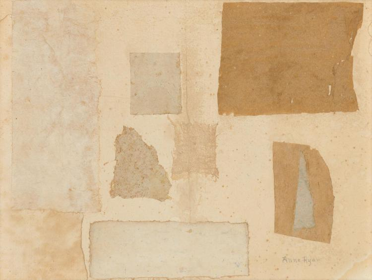 Anne Ryan American, 1889-1954 Gray Collage, 1953