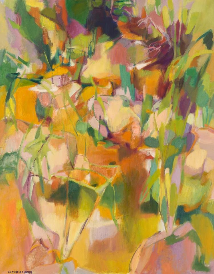Claude Schurr French, b. 1921 Les Georges du loup Oranges, 1970