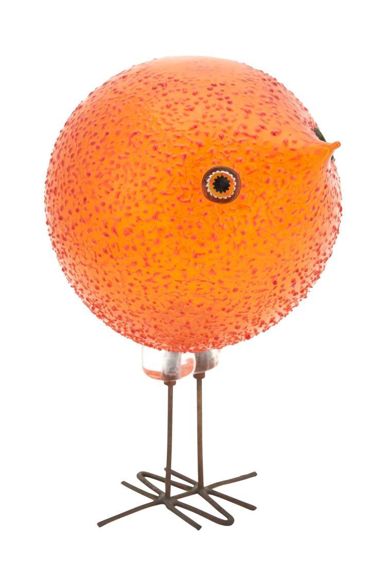 Alessandro Pianon for Vistosi Glass and Copper Wire Bird Sculpture