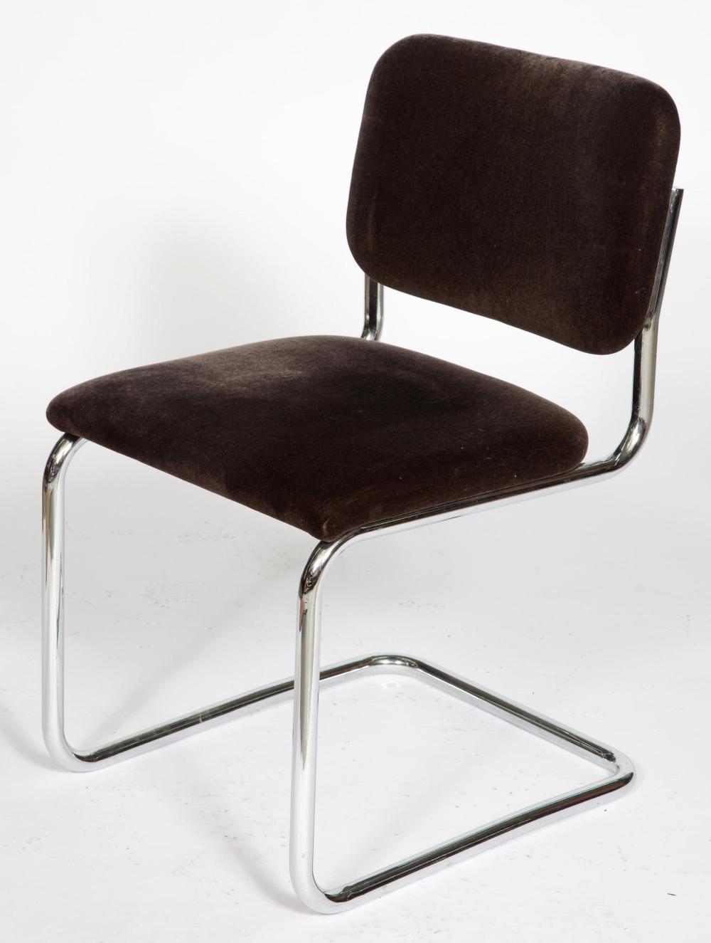 Set Of Ten Marcel Breuer Tubular Steel Upholstered Cesca Cha