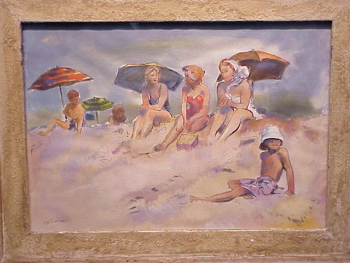 Harold (Hal) Longmore Burrows American, 1889 - 1965 AFTERNOON AT THE BEACH and WATCHING THE SURF: