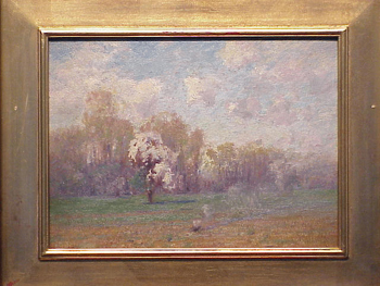 Walter Clark American, 1848 - 1917 BURNING BUSH Estate stamped on verso Oil on board