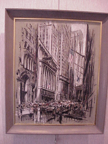 John Haymson American, 1902 - 1980 N. Y. STOCK EXCHANGE Signed (lr) Oil on canvas