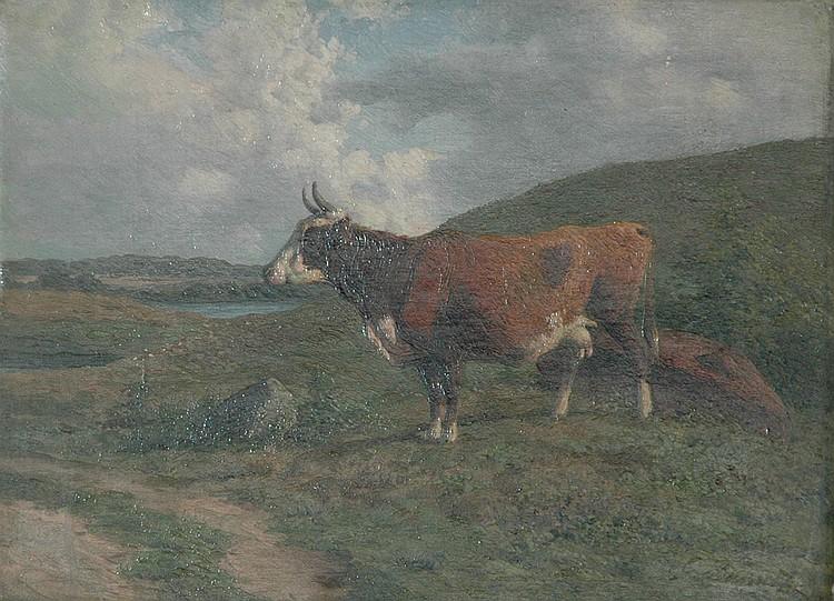 Carl Frederick Bartsch Danish, 1829-1908 Cow in a Pasture