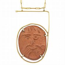 Gold and Ceramic Pendant-Necklace, Cartier, Dinh Van, Picasso