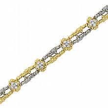 Two-Color Gold and Diamond Bracelet, Cartier, Paris