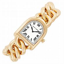 Lady's Rose Gold 'Stirrup' Wristwatch, Ralph Lauren