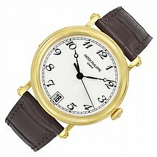Gentleman's Gold 'Officer's' Wristwatch, Patek Philippe, Ref. 5053