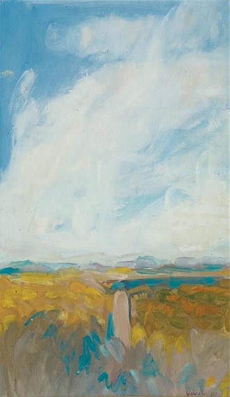 Jane Wilson American, b. 1924 Lanscape, 1960