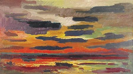 James Penney American, 1910-1982 Sunrise, Maine, 1965