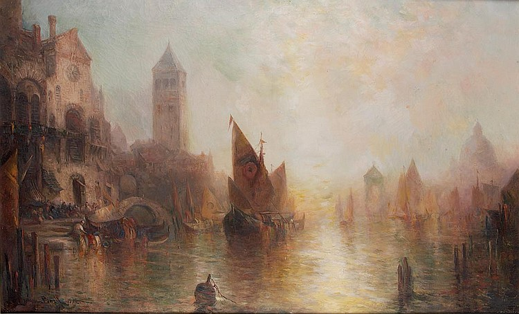 Lucien Whiting Powell American, 1846-1930 Venetian Canal, 1901