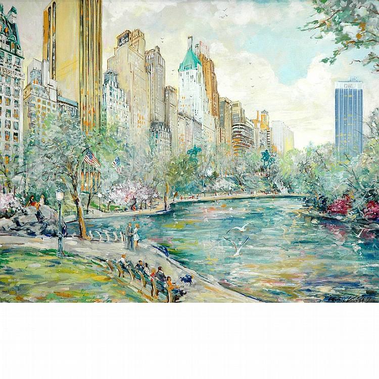 Kamil Kubik American, b. 1930 Central Park Pond, 1977