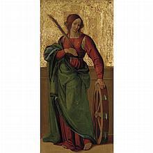 Florentine School Circa 1500 Saint Catherine of Alexandria