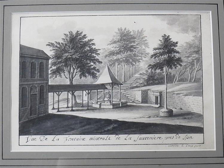 Antoine Le Loup de Spa Franco-Flemish, 1730-after 1772 Views of the Mineral Springs at Watroz, Niverze and SauveniereP...