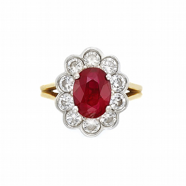 gold platinum ruby and ring
