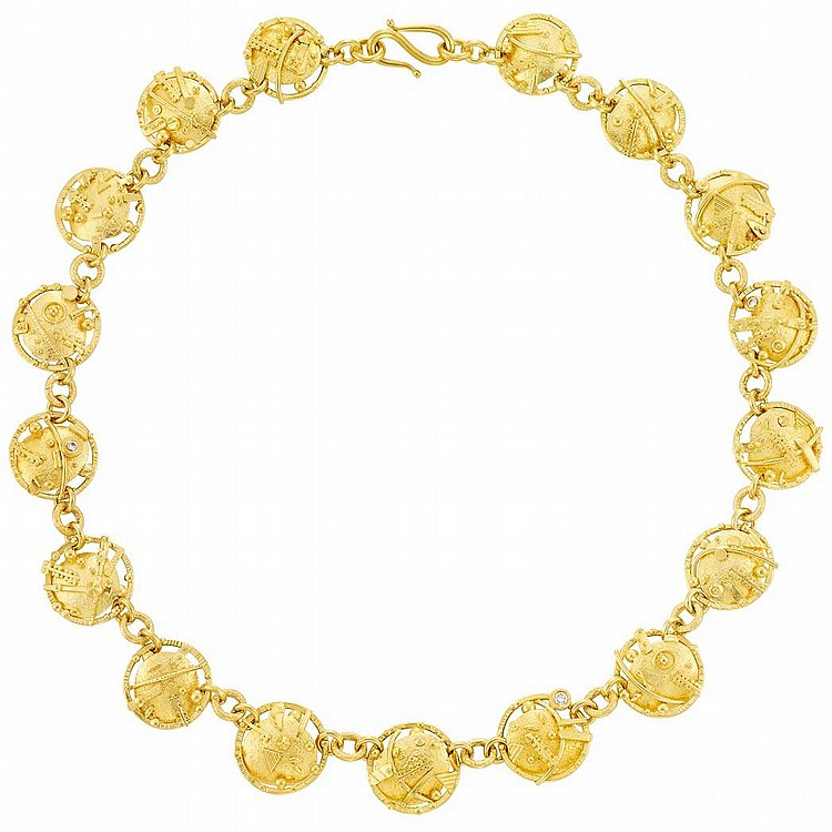 High Karat Gold and Diamond Necklace, James Barker