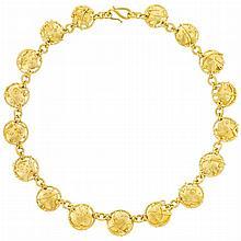 High Karat Gold and Diamond Necklace, James Barker
