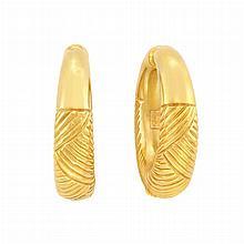 Pair of Gold Hoop Earrings, Ilias Lalaounis