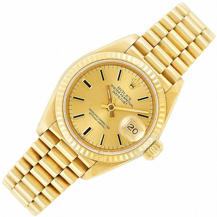 Lady''s Gold Wristwatch, Rolex, Ref. 69178