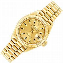 Lady''s Gold Wristwatch, Rolex, Ref. 69178