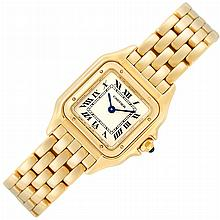 Lady''s Gold ''Panther'' Wristwatch, Cartier