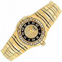 Lady''s Gold and Diamond ''Tanagra'' Wristwatch, Piaget