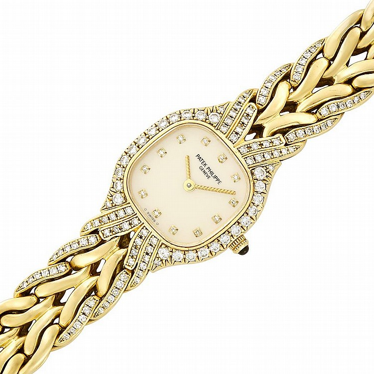 Lady's Gold and Diamond 'La Flamme' Wristwatch, Patek Philippe, Ref. 4815/3