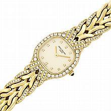 Lady's Gold and Diamond 'La Flamme' Wristwatch, Patek Philippe, Ref. 4815/3