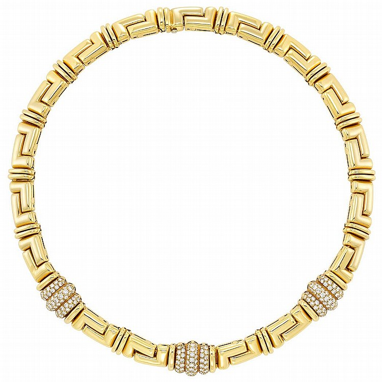Gold and Diamond Necklace, Bulgari