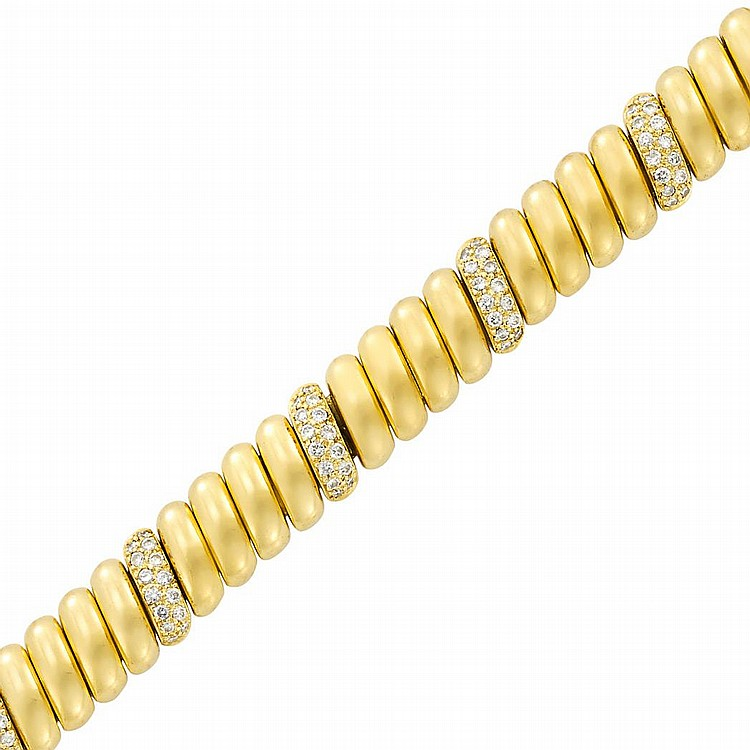 Gold and Diamond Bracelet, Cartier
