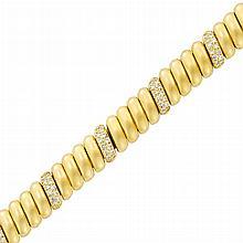 Gold and Diamond Bracelet, Cartier