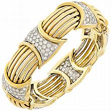 Two-Color Gold and Diamond Bracelet