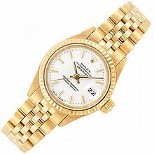 Lady''s Gold Wristwatch, Rolex, Ref. 6917