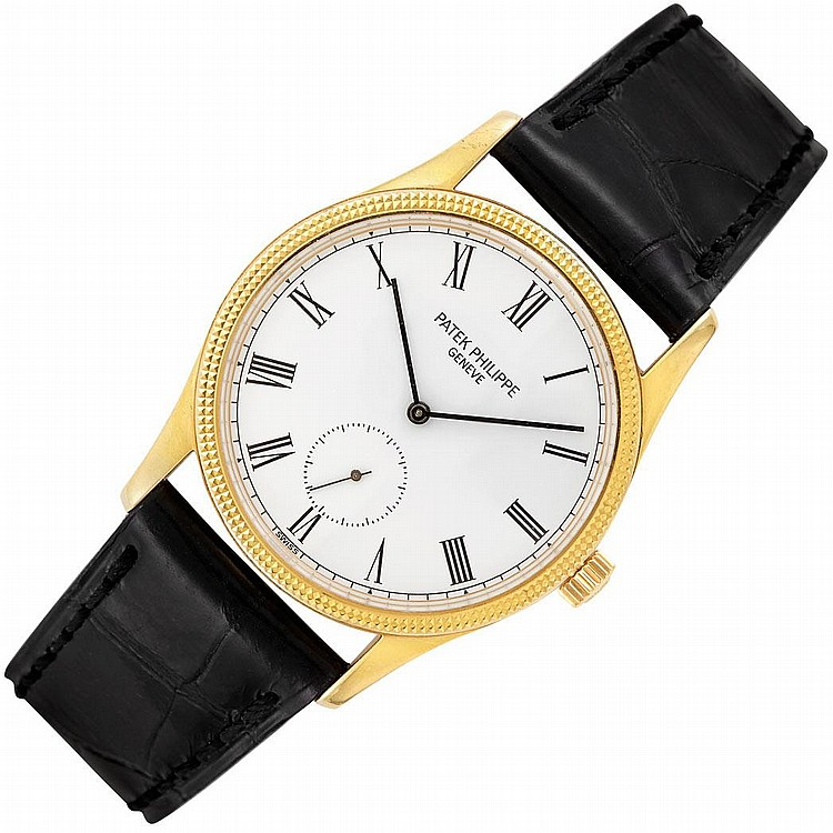 Gentleman''s Gold ''Calatrava'' Wristwatch, Patek Philippe, Ref. 3796/D
