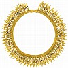 Etruscan Revival Gold and Enamel Mesh Fringe Necklace, Giacinto Melillo