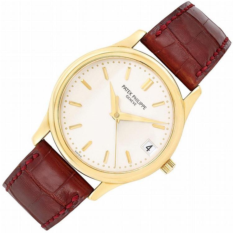 Gentleman''s Gold ''Calatrava'' Wristwatch, Patek Philippe, Ref. 3998