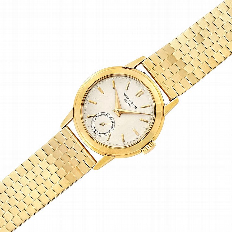 Gentleman''s Gold Wristwatch, Patek Philippe, Ref. 2455