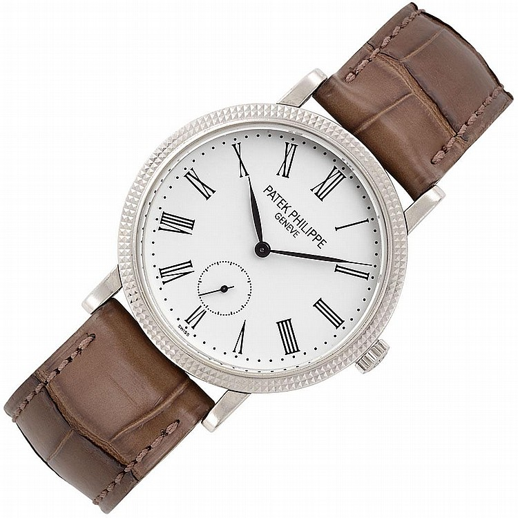 Lady''s White Gold ''Calatrava'' Wristwatch, Patek Philippe, Ref. 7119G-010