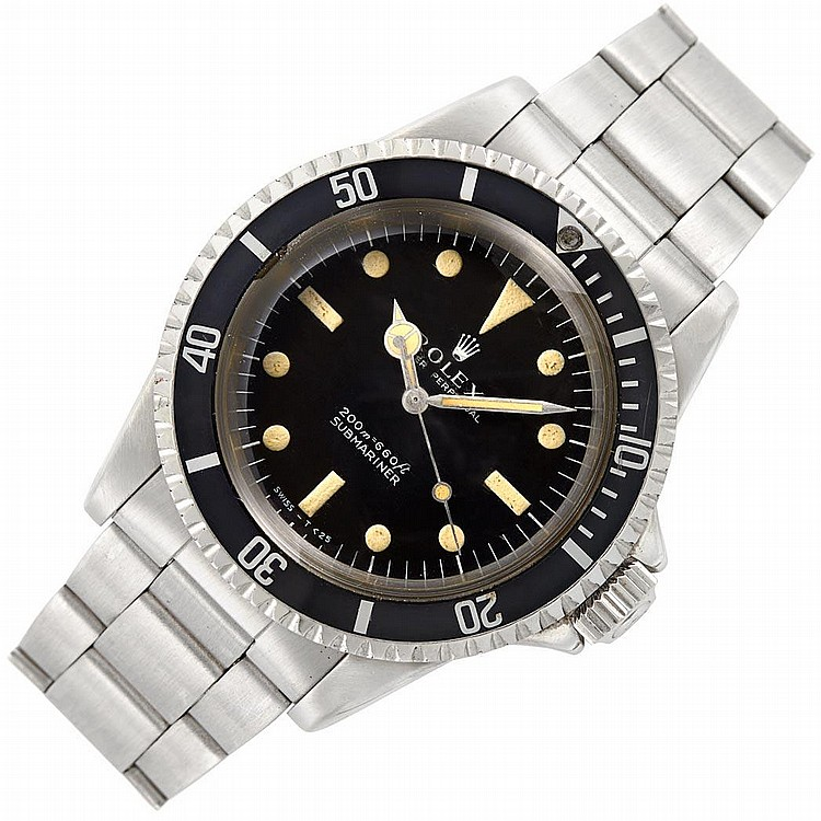 Gentleman''s Stainless Steel ''Submariner'' Oyster Perpetual Wristwatch, Rolex, Ref. 5513