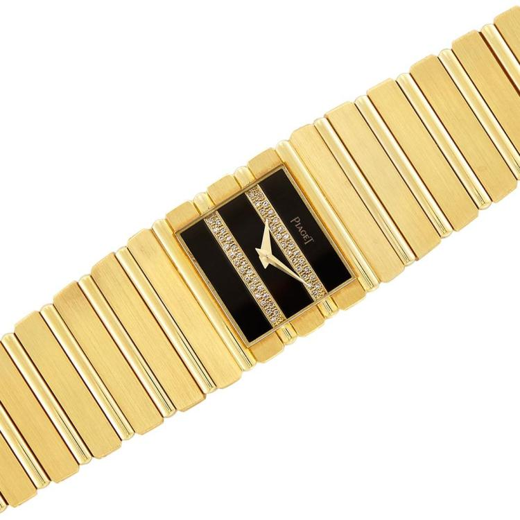 Gentleman''s Gold and Diamond ''Polo'' Wristwatch, Piaget