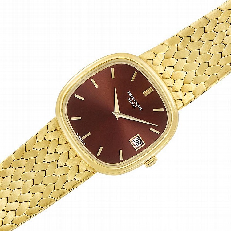 Gentleman''s Gold ''Golden Ellipse'' Wristwatch, Patek Philippe, Ref. 3604/1