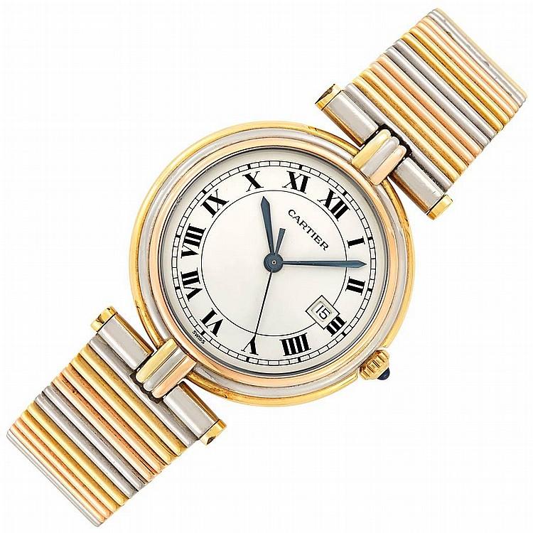 Tricolor Gold ''Vendome'' Wristwatch, Cartier
